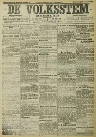 De Volksstem 1915-01-21