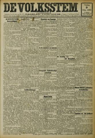De Volksstem 1923-02-09