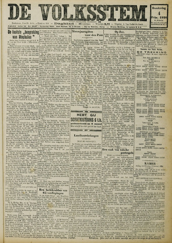 De Volksstem 1926-02-04