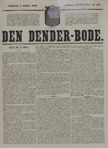 De Denderbode 1849-04-01