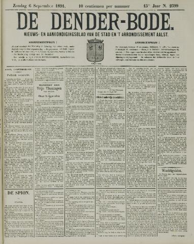 De Denderbode 1891-09-06