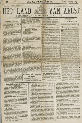 Het Land van Aelst 1884-03-30