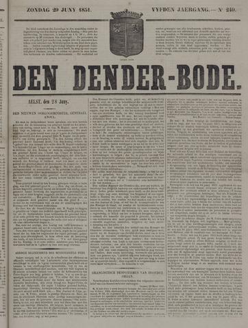 De Denderbode 1851-06-29