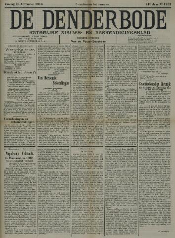 De Denderbode 1916-11-26