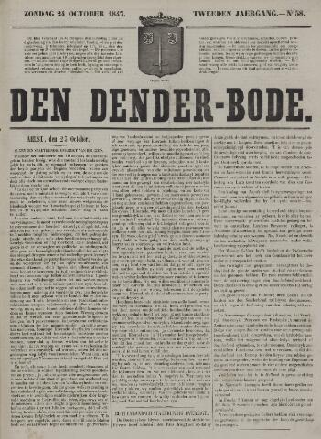 De Denderbode 1847-10-24