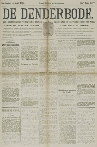De Denderbode 1912-04-04