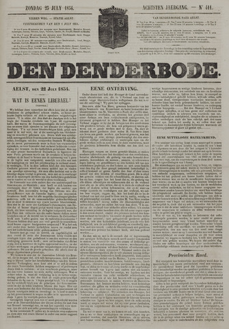 De Denderbode 1854-07-23