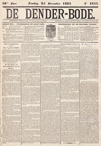 De Denderbode 1881-12-25