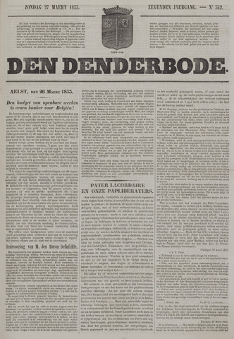De Denderbode 1853-03-27