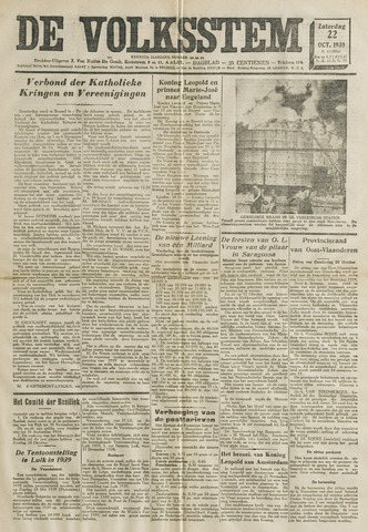De Volksstem 1938-10-22