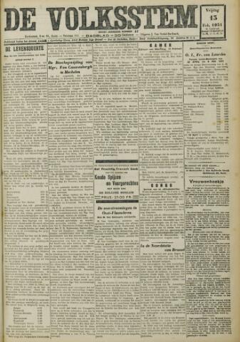 De Volksstem 1931-02-13