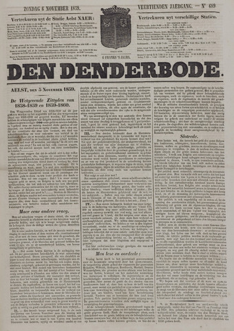 De Denderbode 1859-11-06