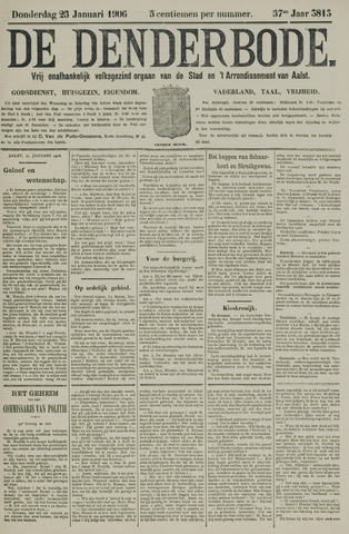 De Denderbode 1906-01-25