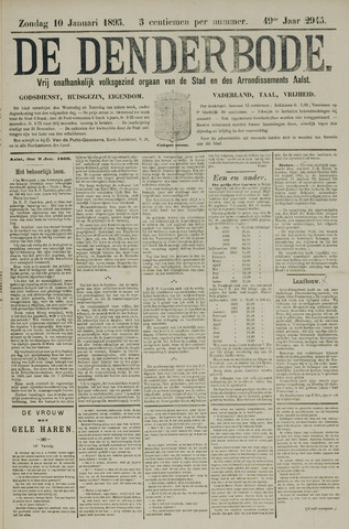 De Denderbode 1895-01-10