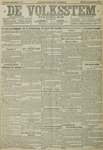 De Volksstem 1914-08-18