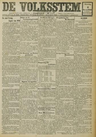 De Volksstem 1926-12-04
