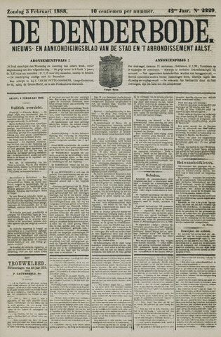 De Denderbode 1888-02-05