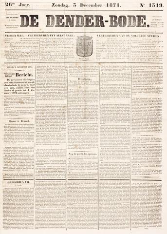 De Denderbode 1871-12-03