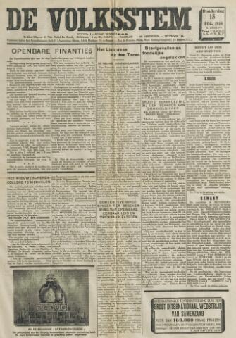 De Volksstem 1938-12-15