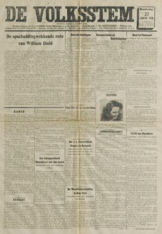 De Volksstem 1938-01-27
