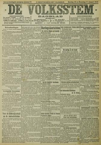 De Volksstem 1915-01-10