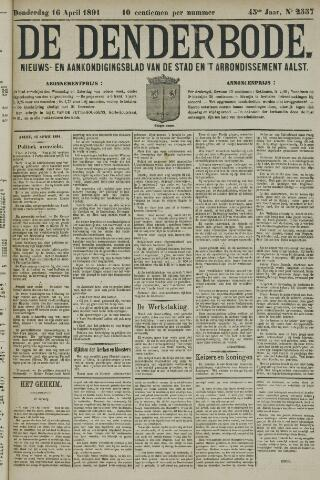 De Denderbode 1891-04-16