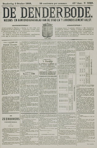 De Denderbode 1888-10-04