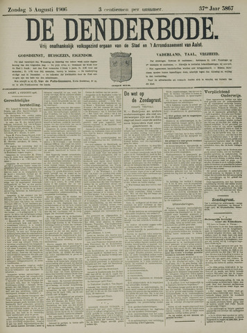 De Denderbode 1906-08-05