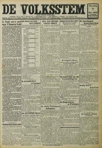 De Volksstem 1932-12-07