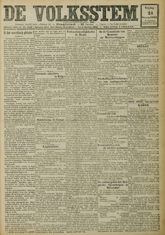 De Volksstem 1926-12-24
