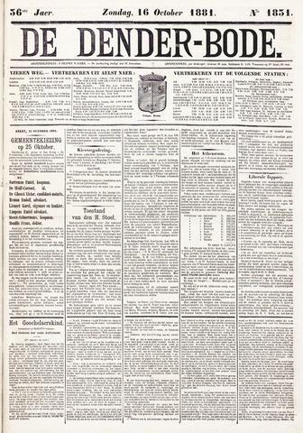 De Denderbode 1881-10-16