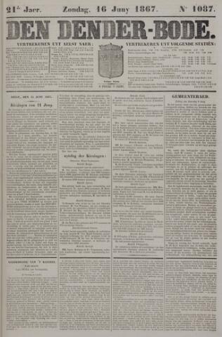 De Denderbode 1867-06-16