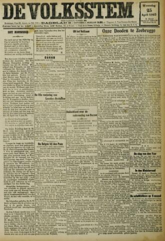 De Volksstem 1923-04-25