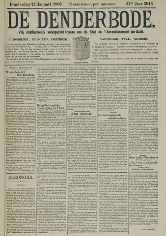 De Denderbode 1907-01-24