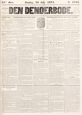 De Denderbode 1871-07-30