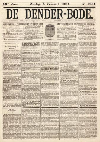 De Denderbode 1884-02-03