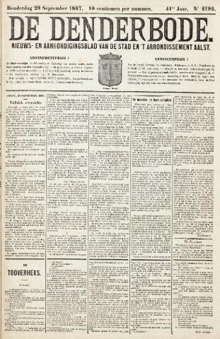 De Denderbode 1887-09-29