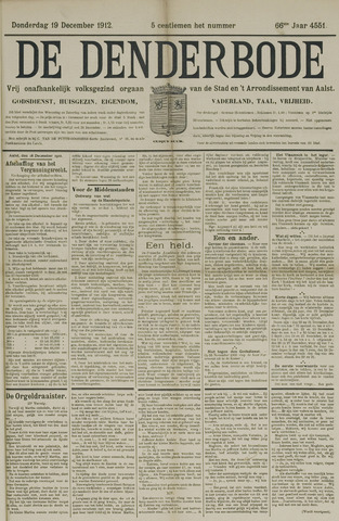 De Denderbode 1912-12-19