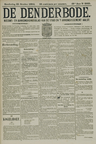 De Denderbode 1894-10-25