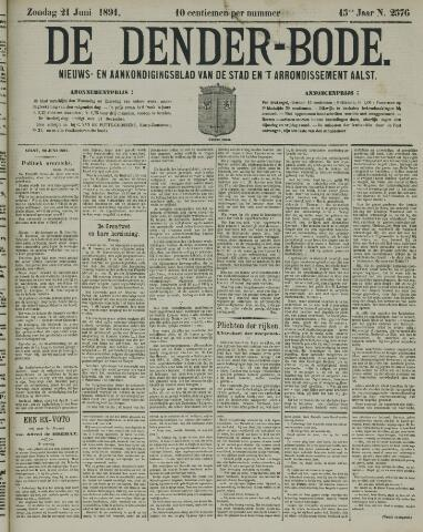 De Denderbode 1891-06-21