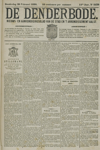 De Denderbode 1890-02-20