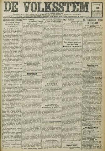 De Volksstem 1931-10-10