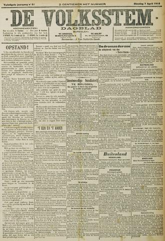 De Volksstem 1914-04-07