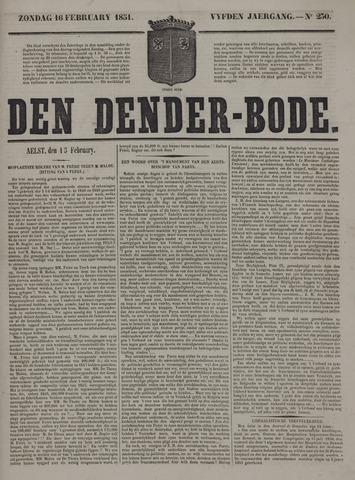 De Denderbode 1851-02-16
