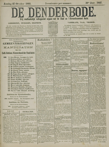 De Denderbode 1895-10-27