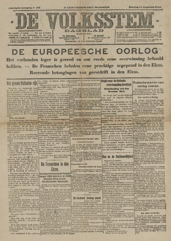 De Volksstem 1914-08-11