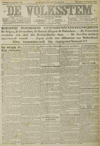 De Volksstem 1914-08-19