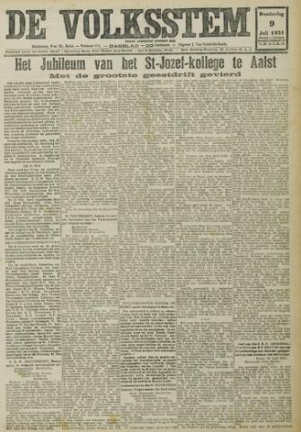 De Volksstem 1931-07-09