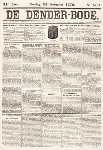 De Denderbode 1876-12-24