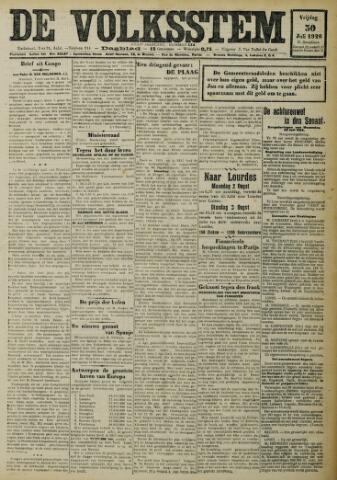 De Volksstem 1926-07-30